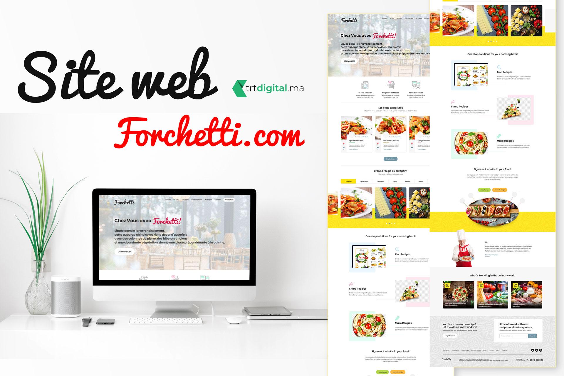 website concept forchetti.com HD - Façon Stratégique Des Panneaux Publicitaires Les Villas Topaz