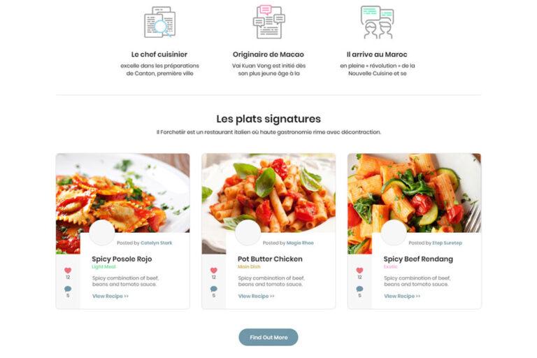 website concept forchetti.com SD1 768x512 - Création Site Web Restaurant Italian